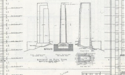Plans of statue